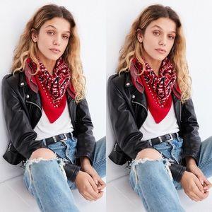 Urban Outfitters Intarsia Knit Bandana Scarf